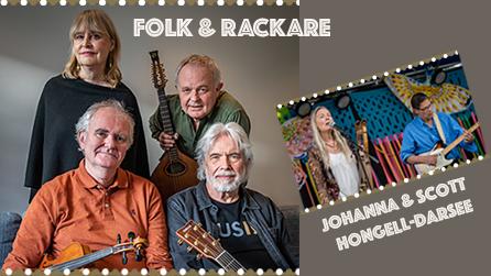 Folk och Rackare samt Johanna & Scott Hongell-Darsee – inställd konsert!
